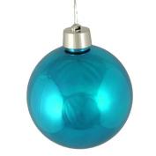 "Huge Shiny Turquoise Blue Shatterproof Christmas Ball Ornament 12"""