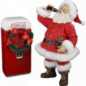 Kurt S. Adler 26.7cm . Coca-Cola Santa with Vending Machine CC5121