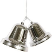 30.5cm Shiny Silver Double Bell Commercial Size Shatterproof Christmas or