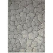 Nourison Summerfield Grey Abstract Rug (7'9 x 10'10)