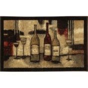 New Wave Wine and Glasses Brown 53.3cm x86.4cm Rug - 10291 426 021034
