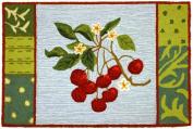 Homefire Rugs PY-GA005 55.9cm . x 86.4cm . Cherry with Blossoms Rug