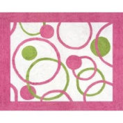 JoJo Designs Circles Pink and Green Accent Floor Rug