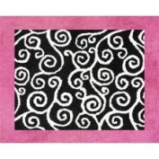 Sweet JoJo Designs Madison Pink, Black, and White Rug