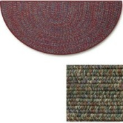 Goods of The Woods Green Braided Polyester Half Round Hearth Rug - 68.6cm
