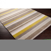 angelo:HOME by Surya Madison Square MDS-1009 Transitional Hand Loomed 100% Wool Silver Cloud 0.6m x 0.9m Geometric Accent Rug