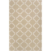 0.6m x 0.9m Mellow Web Parchment Wool Area Throw Rug