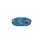 Carpets For Kids 6813 Fishing for Literacy 3. 25m x 0m x 5. 25m x 0m Rectangle Carpet