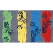 The Rug Market Motocross Grey Kids Rug Size