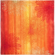 Safavieh Soho Amanda Wool Square Rug, Rust/Multi-Colour, 1.8m x 1.8m