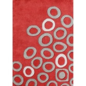 Horizon Home Imports Alliyah Hand-made Poppy Red New Zealand Area Rug (5' x 8')