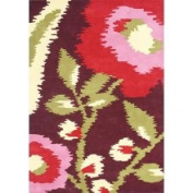 Horizon Home Imports 'Me & Mom' Rio Red Floral Wool Rug (5 x 8)