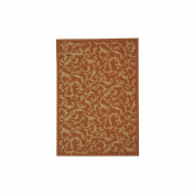 Safavieh Courtyard Ivy Scroll Terracotta / Natural 2.13m x 0m 25.4cm x 2.13m x 0m