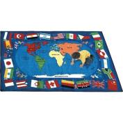 Joy Carpets Flags of The World Rectangle Rug 165.1cm x 233.7cm