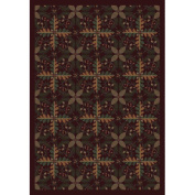 Joy Carpets Nature Tahoe - 1516 5'10.2cm x 7'20.3cm Burgundy Area Rug