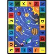 Joy Carpets Space Alphabet Oval Rug 165.1cm x 233.7cm