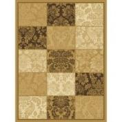 Central Oriental Dimensions Adagio Wheat/Brown Rug Rug Size