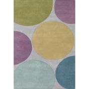 Horizon Home Imports Hand-tufted Metro Circles Multicoloured Wool Rug (8' x 10')