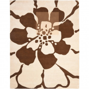 Safavieh Handmade New Zealand Wool Endless Beige Rug (7'6 x 9'6)