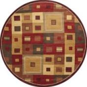 Surya Hand-tufted Mayflower Burgundy Wool Rug