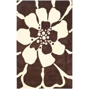 Safavieh Soho Kelly Wool Rug, Brown/Beige, 2.1m x 0m15cm x 2.1m x 0m15cm