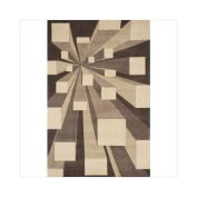 Momeni NEWWANW128COT590R New Wave 5.75 ft. x 5.75 ft. Round Rug - Concrete