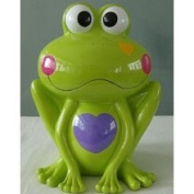 Blowfish Green Frog Money Piggy Bank with Hearts - 12
