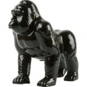 Silly Moneybank Gorilla, CERAMIC, Black
