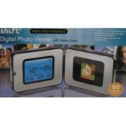Merchsource Shift 3 Digital Photo Viewer with Alarm Clock