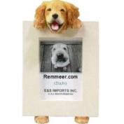 Golden Retriever Dog 6.4cm x 8.9cm Handpainted Picture Frame