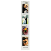 JAF Gifts 4-Opening 4x6 I Do White Vertical Picture Frame