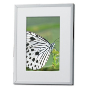 Lawrence Frames 284046 Lawrence Frames Silver Plated Matted 4x6 Picture Frame