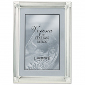 Lawrence Frames Brushed Silver Plated 4 by 6 Metal Picture Frame
