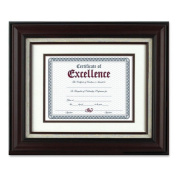 The Burns Group DAXN15907B Wall Frame- with Lined Insert- 11in.x14in.- Mahogany