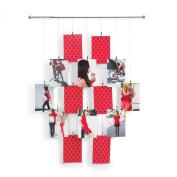 Umbra Tangle Wall-Mount Metal Photo/Card Display, Holds 14 10cm x 15cm Photos