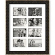 Sixtrees wf504468 Brown Gold Scroll (1.626) Photo Frame, Multi