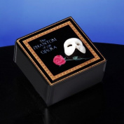 Mask & Rose Glass Music Box