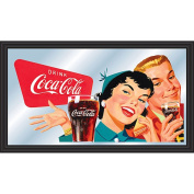 Coca-Cola Horizontal Vintage Mirror - Couple Enjoying Coke