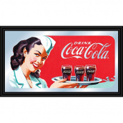 Coca-Cola Vintage Mirror Horizontal Waitress with Coke