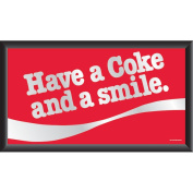 Trademark Global have A Coke and A Smile Framed Mirror