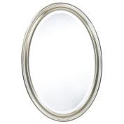 Blake Oval Antique Silver Mirror