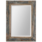 Uttermost 13829 Bozeman Distressed Mirror, Blue