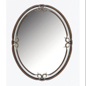 Quoizel DH43024PN Duchess Small Renaissance Rounded Mirror in