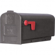 Solar Group Inc Plastic Rural Black Mailbox PL10B