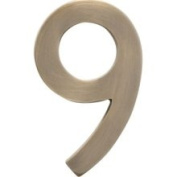 Architectural mailboxes 3585AB-9 Five Inch Floating House Number Antique Brass Inch23cm