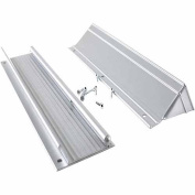 M-d Products 13in. Satin Aluminum Mail Drop With Flap & Hood 28555