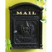 E6 Victorian Locking Wall Mount Mailbox - Black