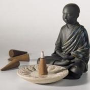 Lladro Porcelain Figurine Incense Burner Black