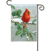 Magnet Works Winter Songbird Garden Flag