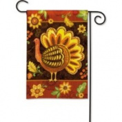 Folk Turkey Thanksgiving Garden Flag